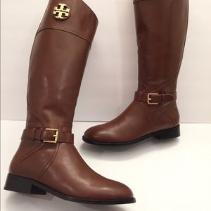 d29aedb58cc Tory Burch Shoes - Tory Burch ADELINE Leather Tall Riding Logo Boots